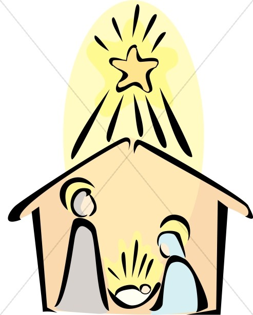 nativity scene with radiant star of bethlehem nativity clipart rh sharefaith com christmas bethlehem clipart bethlehem star clipart free