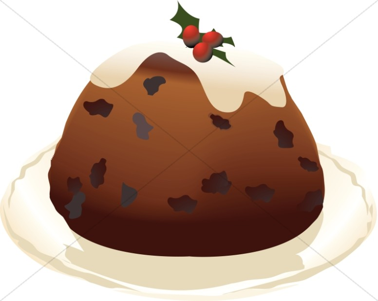 Christmas Pudding on a Platter