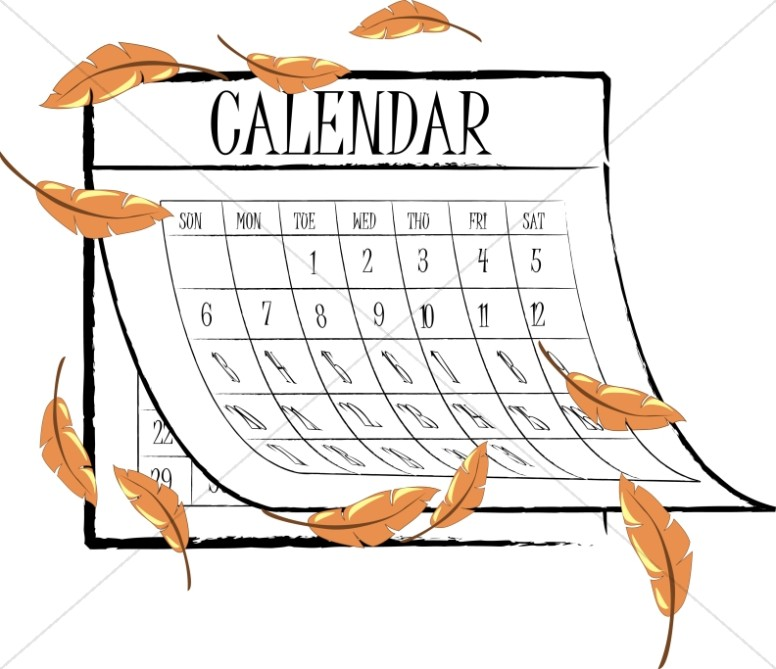 Calendar Art Clip : Fall leaves calendar christian clipart