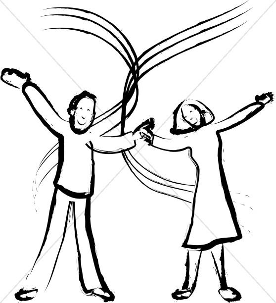 Joyful Married Couple Image