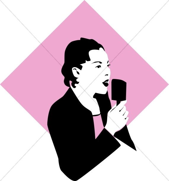Retro Lady Announcer