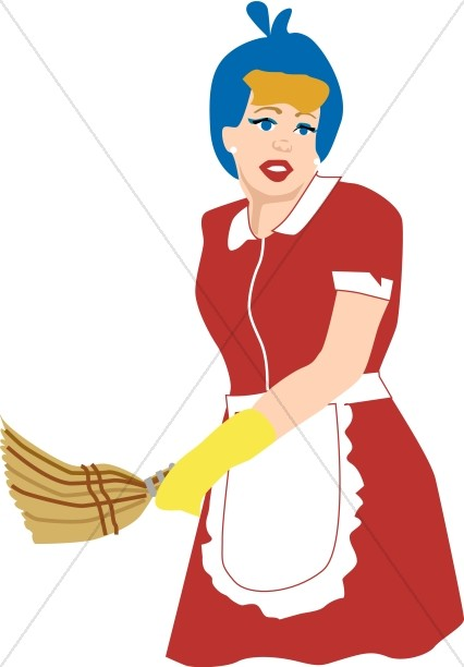 Old Fashioned Maid in Uniform