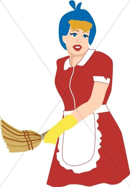 Old Fashioned Maid in Uniform
