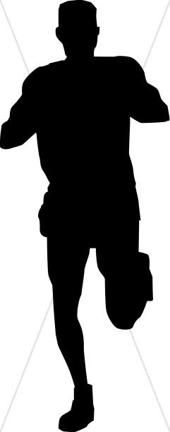 Silhouette of Running Man