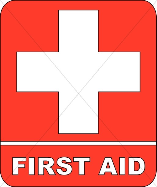 Red First Aid Sign