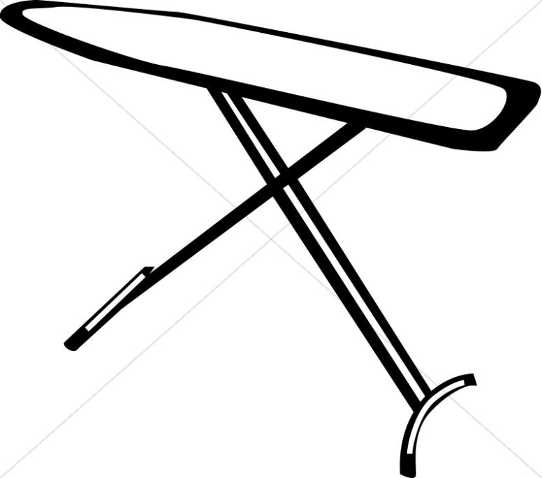 Line Drawn Ironing Board