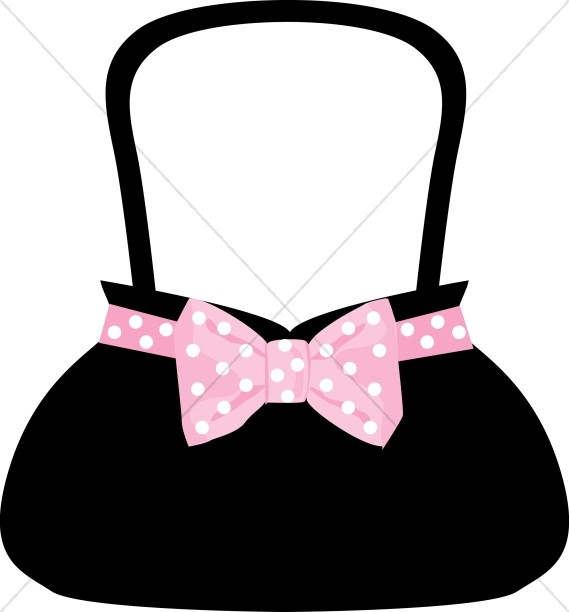 Polka Dot Bow Purse