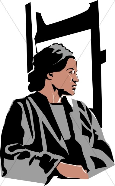 rosa parks begins the civil rights movement famous people clipart rh sharefaith com Rosa Parks Clip Art Border Clip Art of Black History Rosa Parks