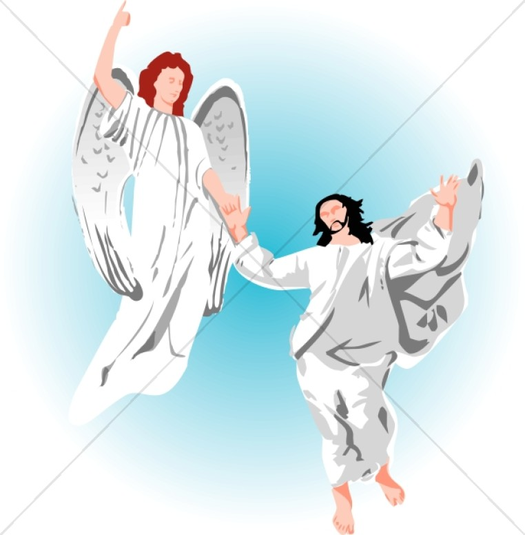 Jesus and Angels Christian Clipart