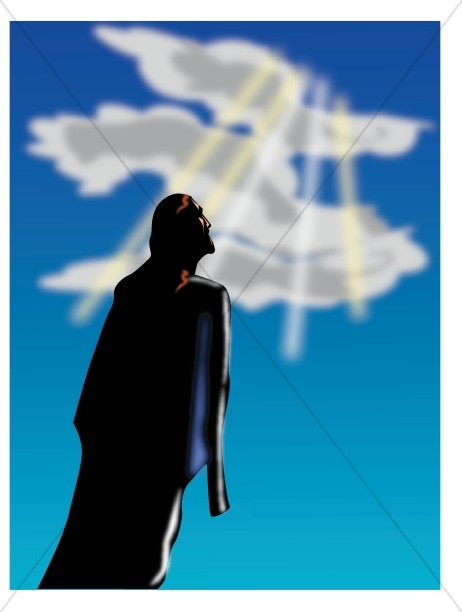 clipart of jesus ascending to heaven - photo #19