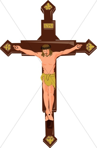 INRI Symbol of Christ on the Cross