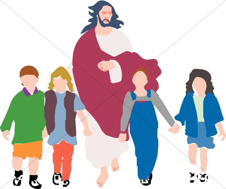 Children Walking with Christ