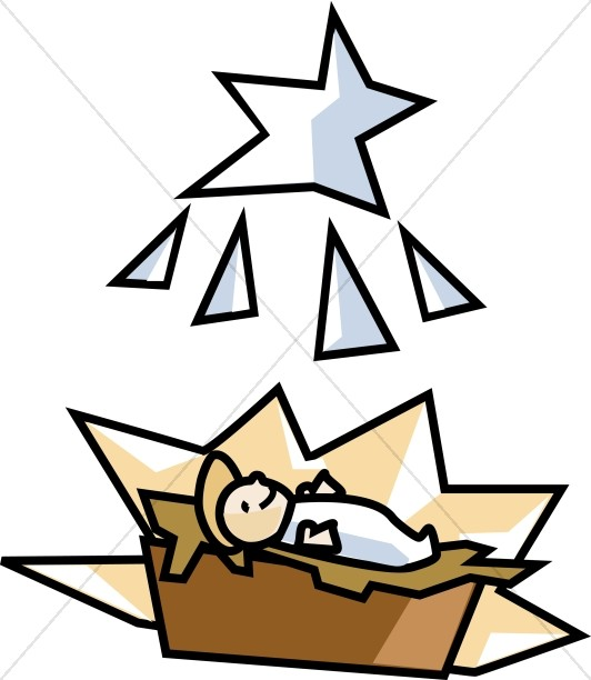 Tiny Hand Reaches for a Star | Baby Jesus Clipart