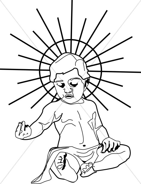 Line Drawn Baby Jesus