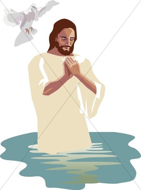Jesus Praying in the River Jordan