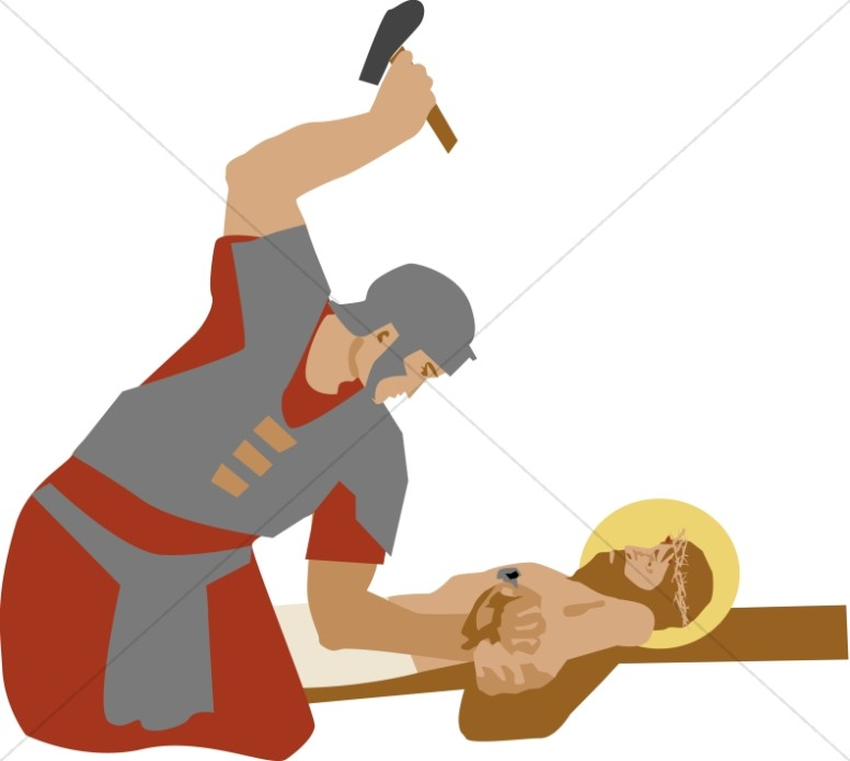 romans nail christ to the cross stations of the cross clipart rh sharefaith com stations of the cross clipart free