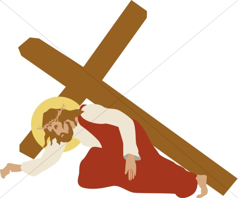 jesus stumbles under the cross stations of the cross clipart rh sharefaith com jesus died on the cross clipart clipart of black jesus on the cross
