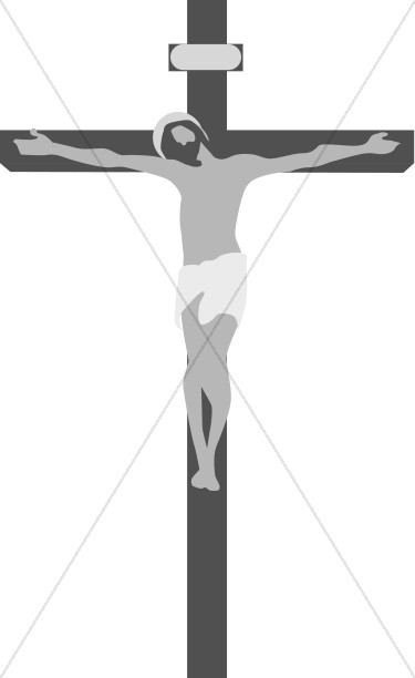 Gray Jesus on Cross Image