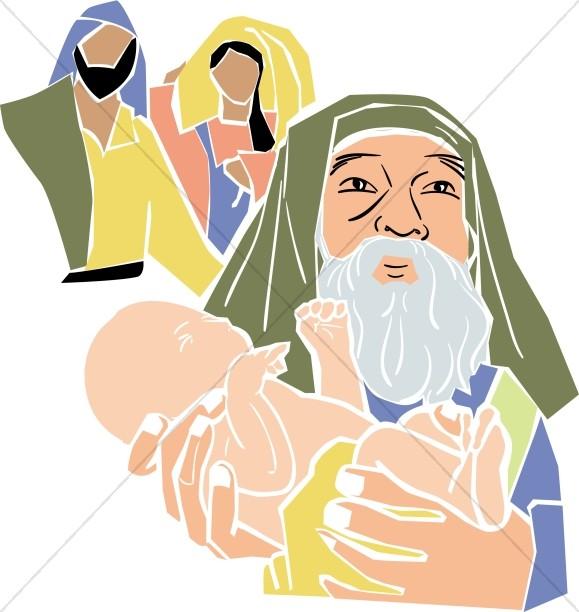 Simeon Holds Baby Jesus