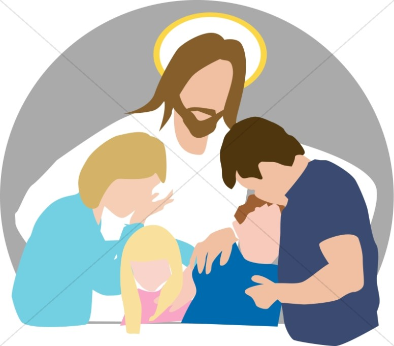 Jesus Comforts Family in Grief