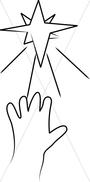 tiny hand reaching for stars line art baby jesus clipart rh sharefaith com Shepherd's and Angels Clip Art Christian Christmas Star Clip Art