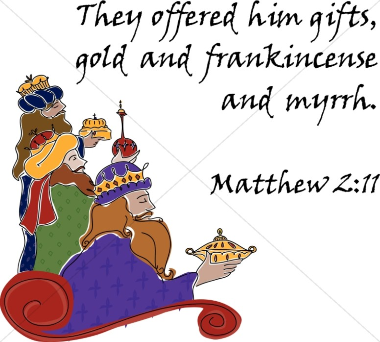 Three Magi with Matthew 2:11