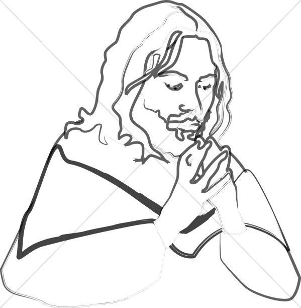Prayerful Jesus Portrait