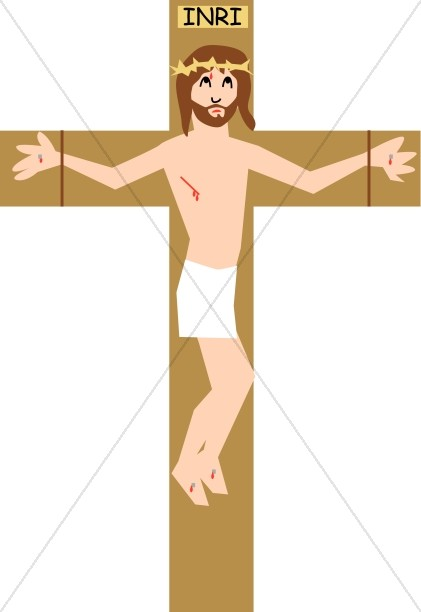 Simple Christ with INRI inscription