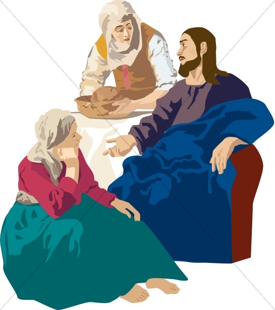 Jesus at the Table with Martha and Mary