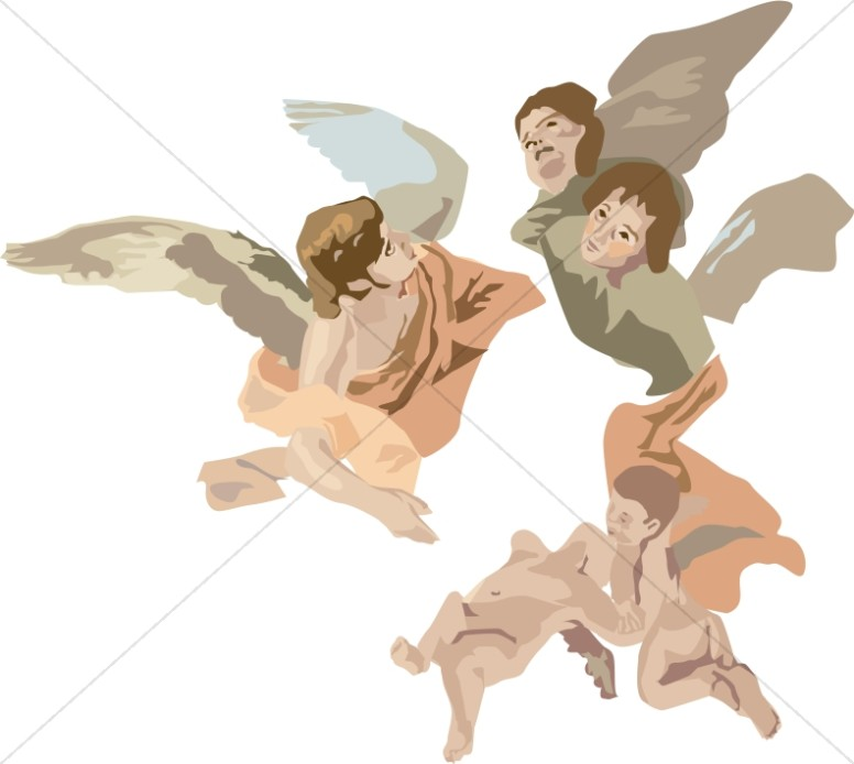 Cherubim Angels Clipart