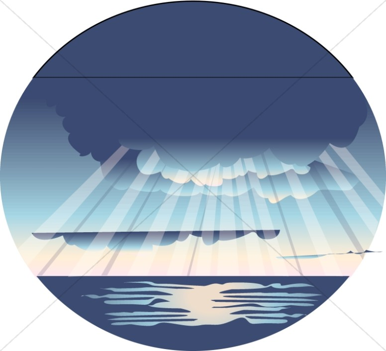 Rays of Light on Ocean Scene