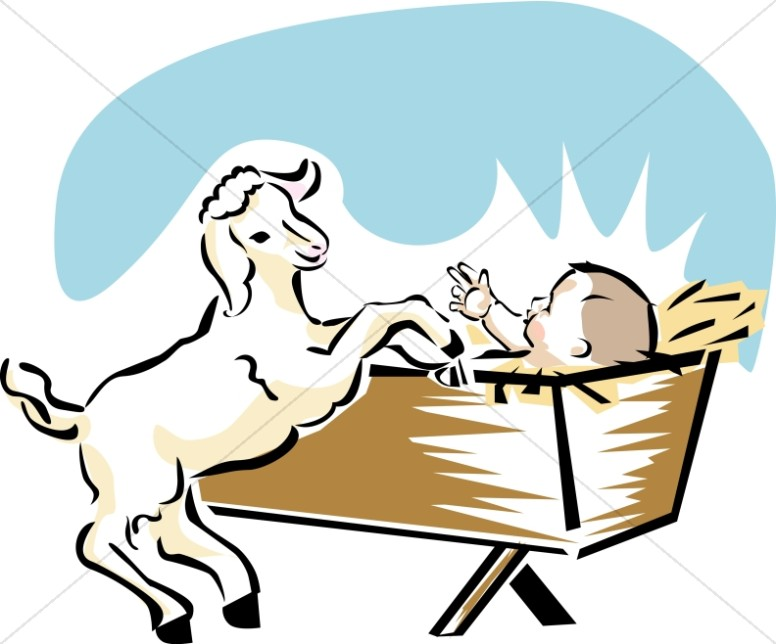 baby jesus with goat baby jesus clipart rh sharefaith com baby jesus manger clipart baby jesus clipart black and white