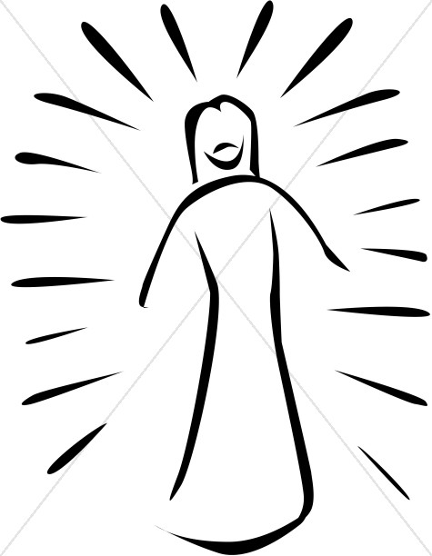 Transfiguration of Jesus Cartoon