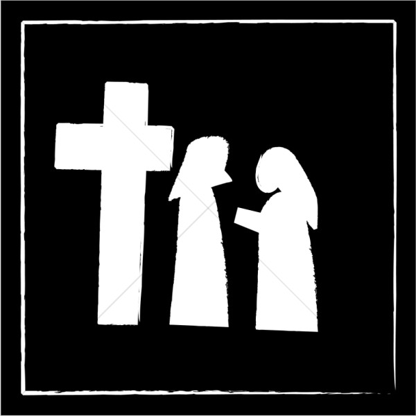 Man and Woman at the Foot of the Cross