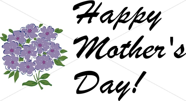 Happy Mother's Day with purple Bouquet