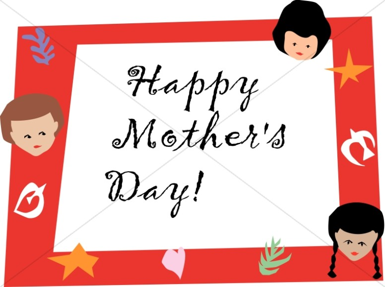 Happy Mother's Day with Kids Frame