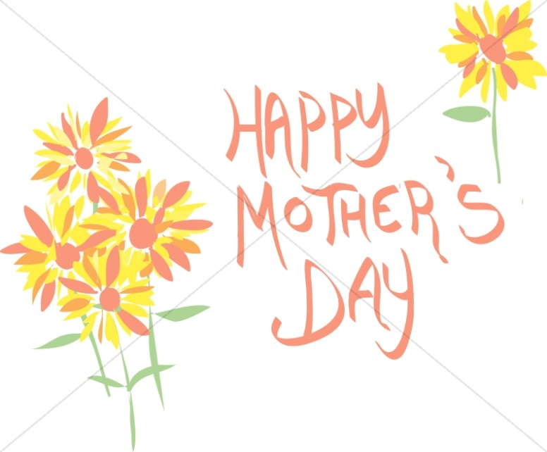 Cute Colorful Flowers Mothers Day Wish