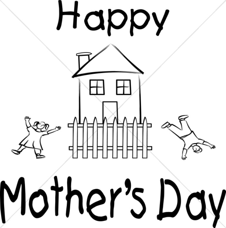 Somersaulting Kids and House Mother's Day Wish