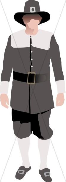 Symbolic Pilgrim Man