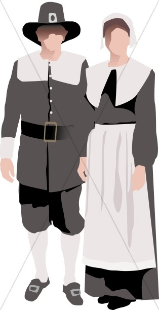 Symbolic pilgrim Couple