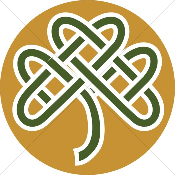 Colored Celtic Knot Shamrock