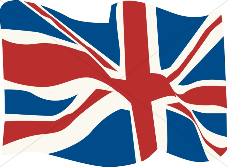 British Flag in the WInd