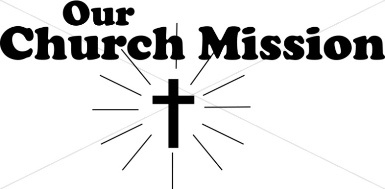 Our Church Mission with Cross silhouette