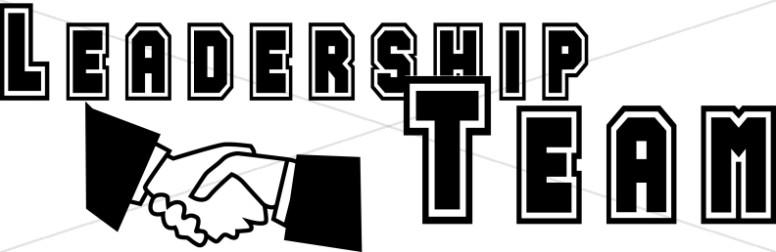 Black and White Leadership Team with Handshake