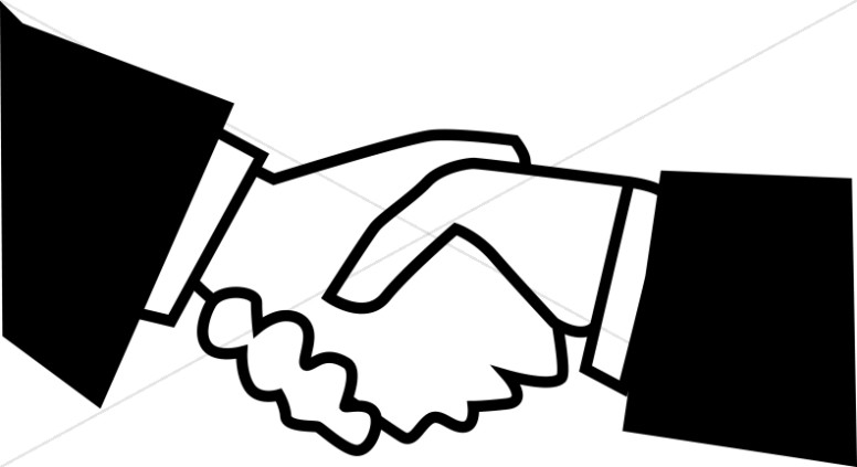 black and white handshake fellowship clipart rh sharefaith com handshake clipart free handshake clip art black white