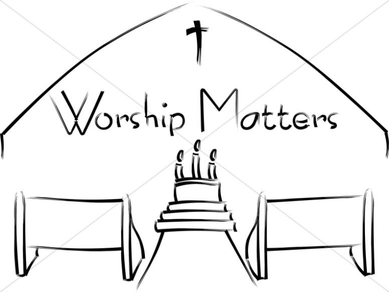 Worship Matters with Church Scene
