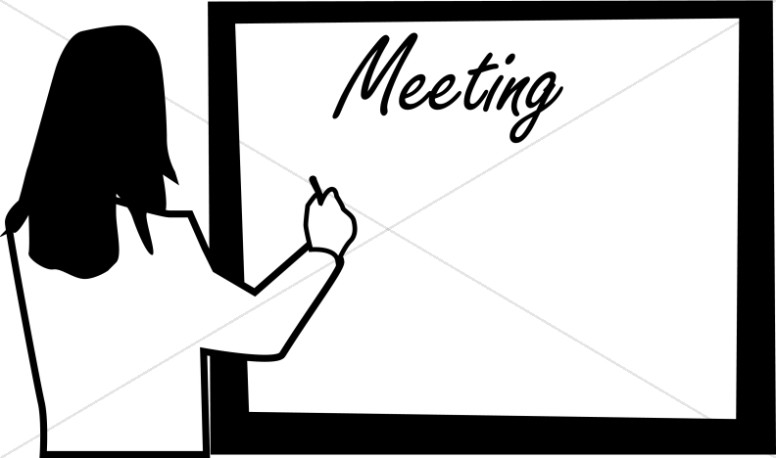 Woman Writing Meeting agenda