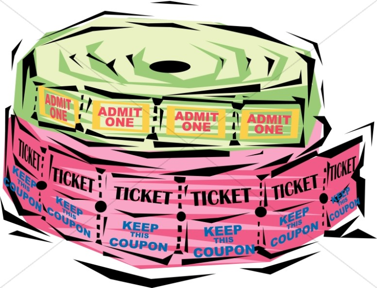 festive ticket rolls church management clipart rh sharefaith com raffle ticket winner clipart raffle ticket template clipart