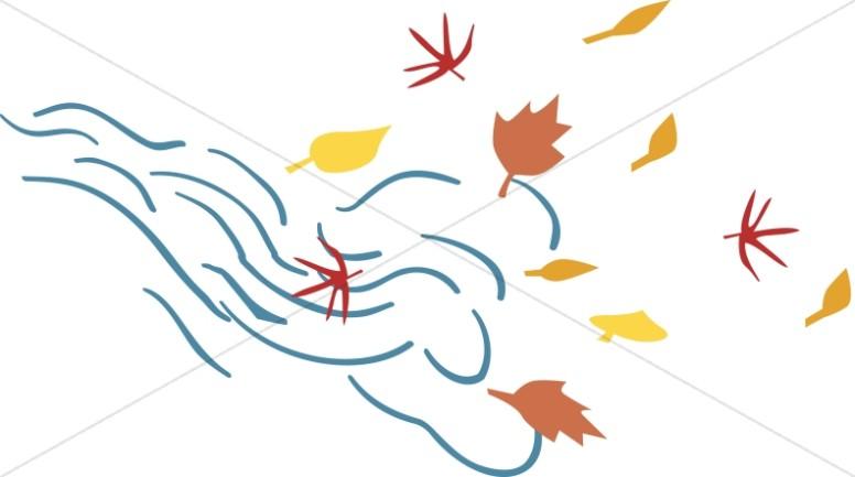 Fall leaves simple. On wind leaf clipart