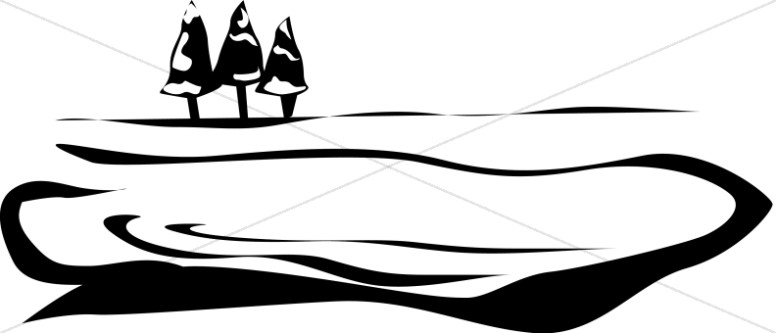 Lake and trees Motif